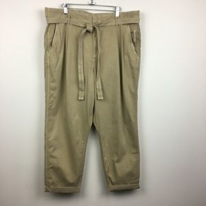 NWT Gap Khaki Color Belted Trouser Pants